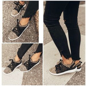 Canvas Leopard Sneakers